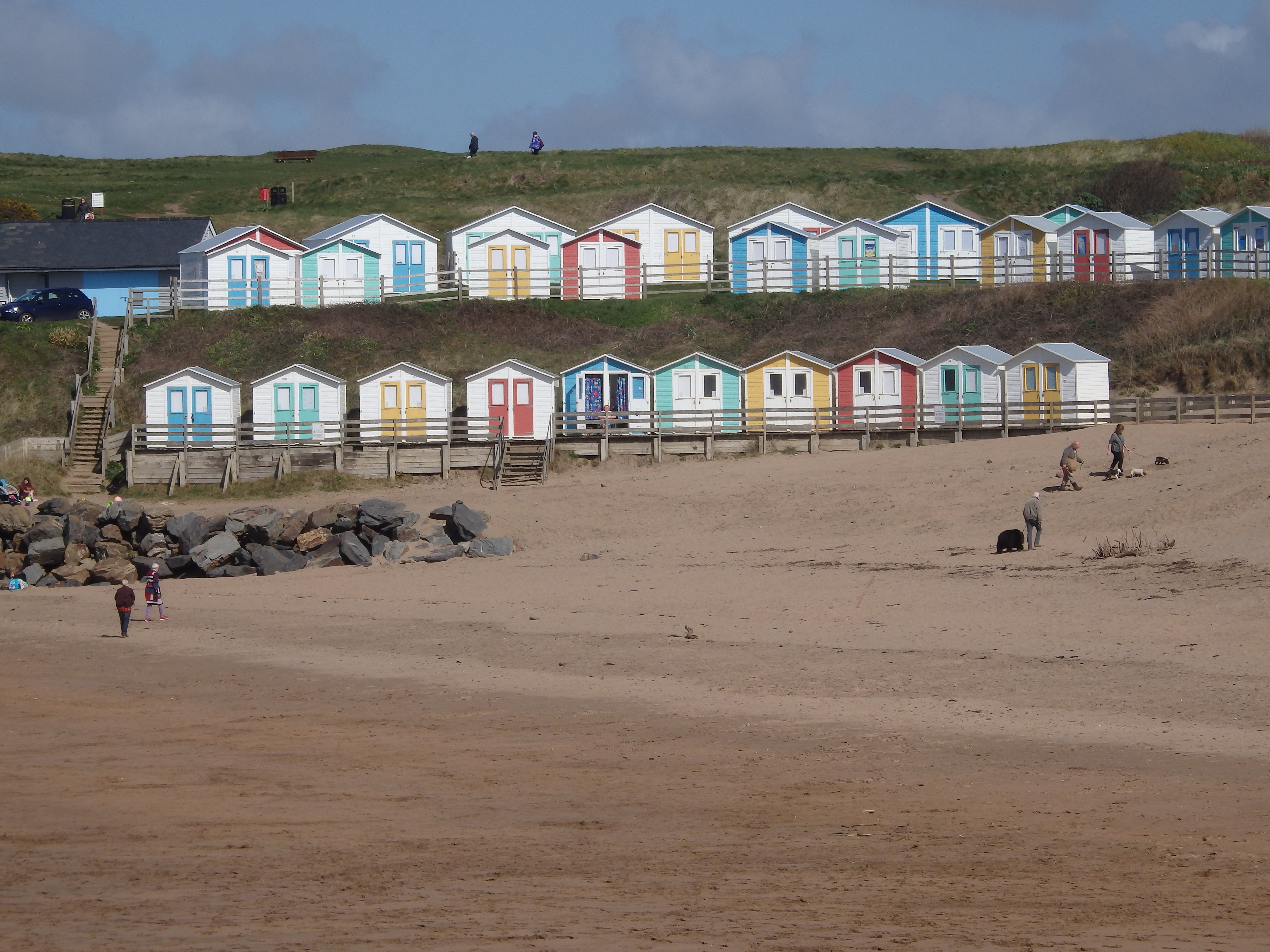 Summerleaze Beach and Huts close to Forda Farm Bed and Breakfast on the North Devon and Cornwall border.